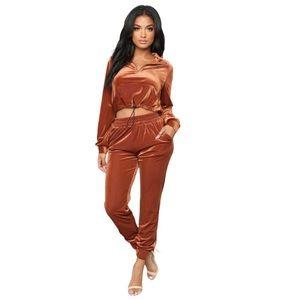 "Fashion Nova ""Issa Vibe Set - Rust"""